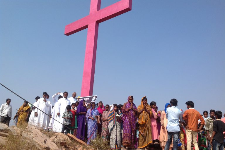Christians in Nellore Diocese, south-east India.