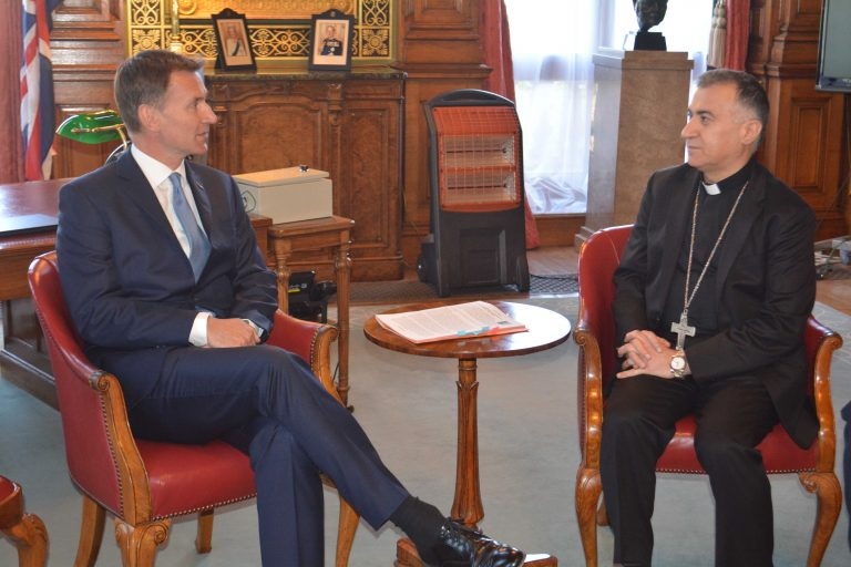 Archbishop Warda meeting Foreign Secretary Jeremy Hunt