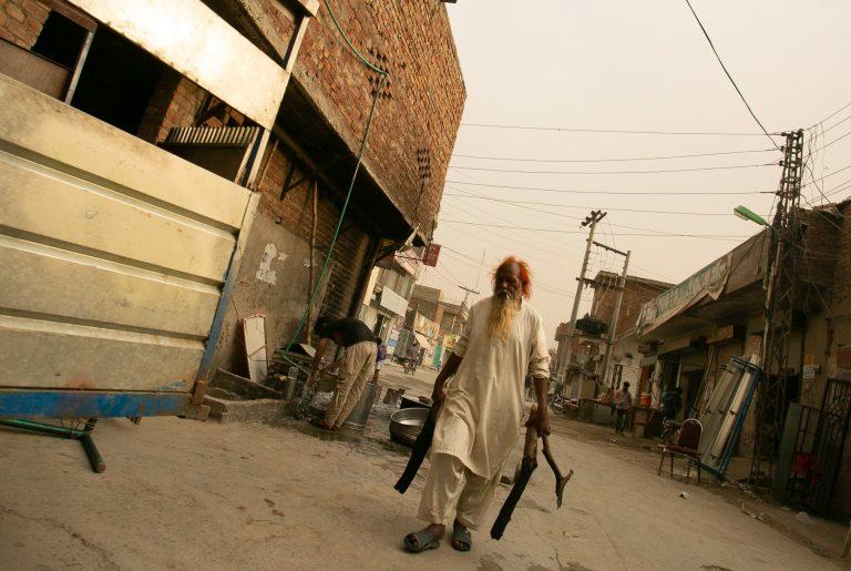 A street scene in Lahore, Pakistan.