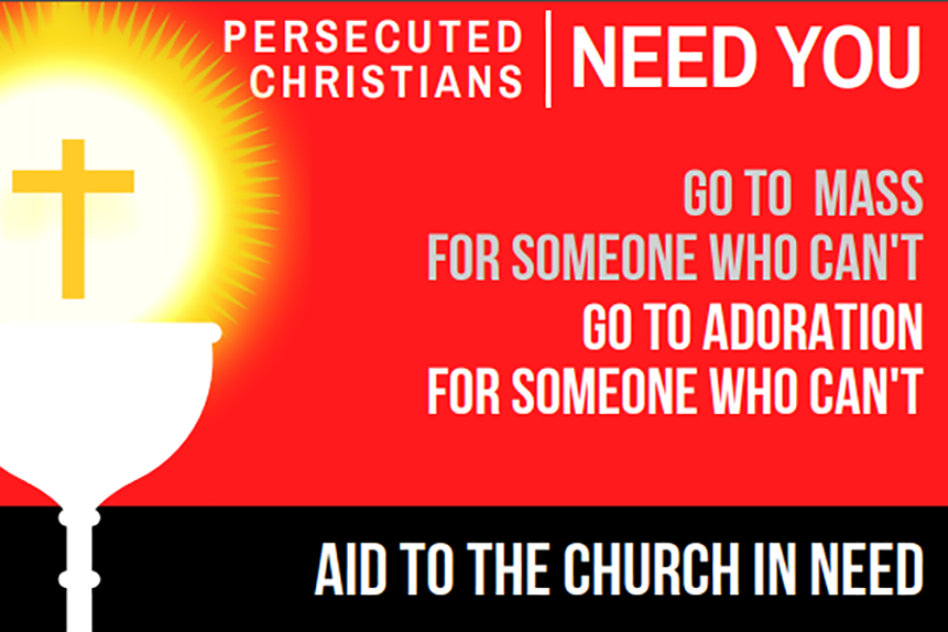 Christians called to support other Christians persecuted for their faith at 'Adoremus' – the National Eucharistic Congress in Liverpool this weekend, 7th-9th September