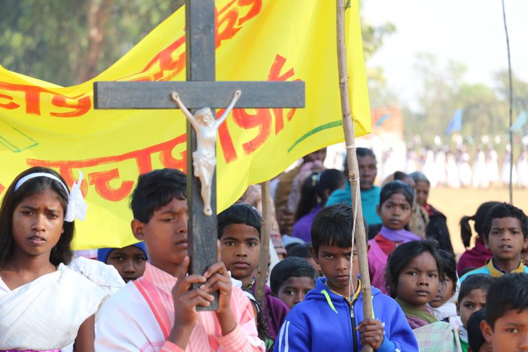 Christians in procession in Jharkhand state, India © Aid to the Church in Need