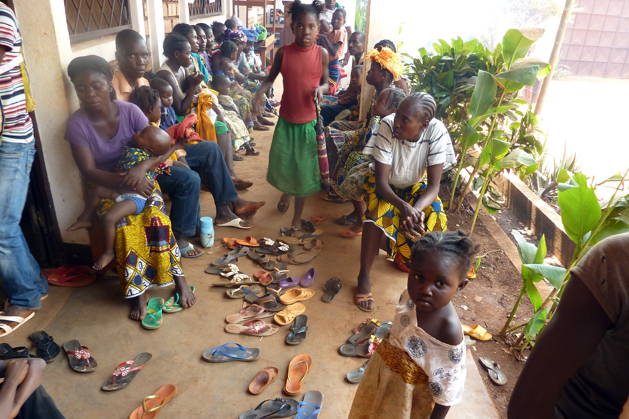 Central African Republic, Bangui: Refugee Camp on the compound of the Carmelite Monastery