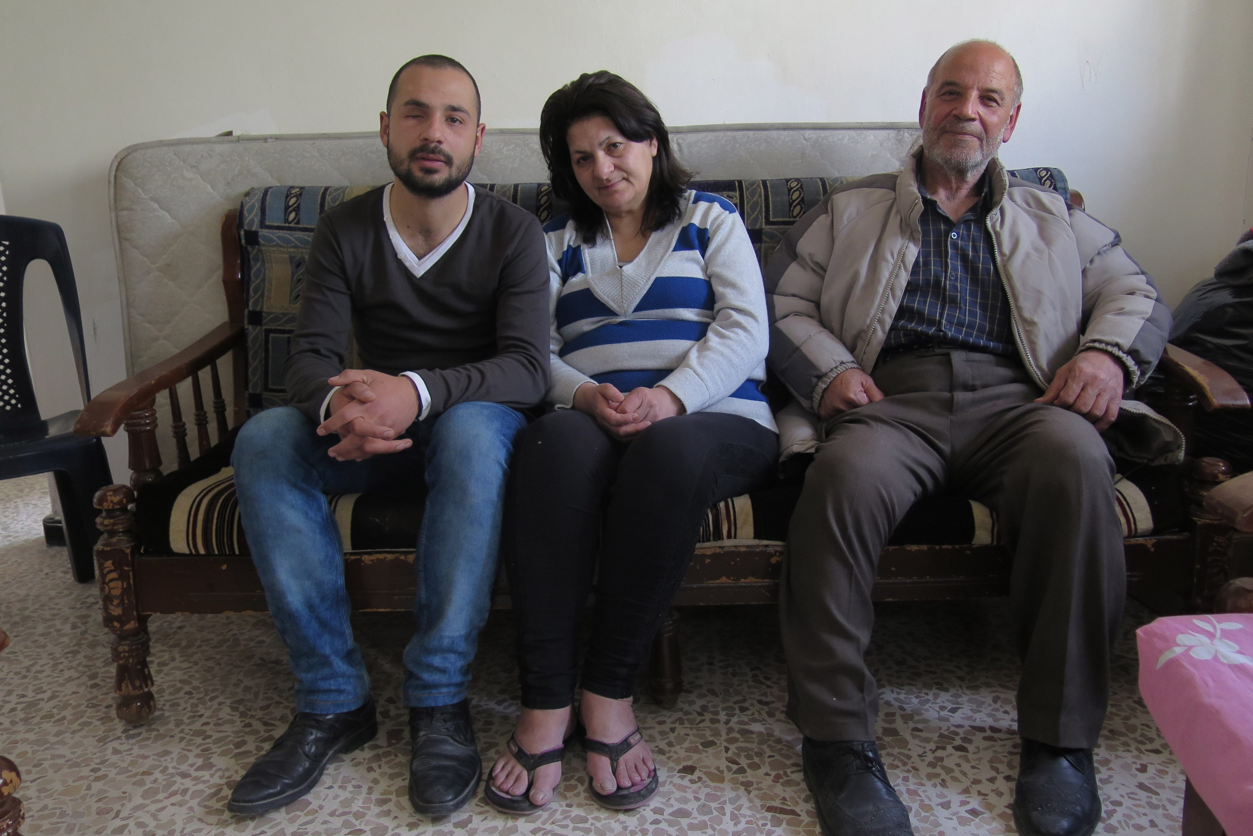 Bashar, Lina and Elias Ghattas (Left to right) (Credit: Aid to the Church in Need)