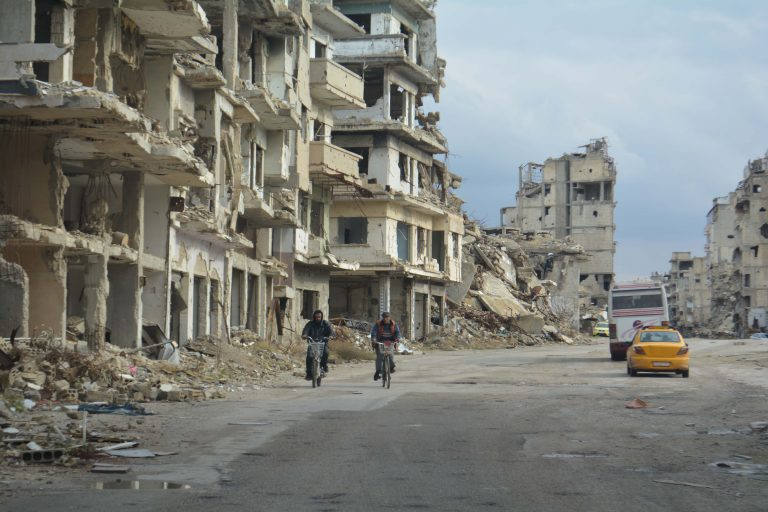 A scene of devastation in Syria © Aid to the Church in Need