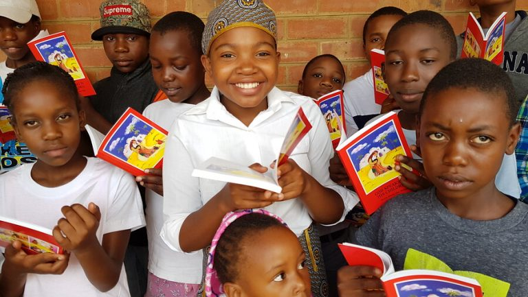 ACN has provided 8,160 copies of the Child's Bible to schools and hospitals in the Archdiocese of Bulawayo, Zimbabwe.