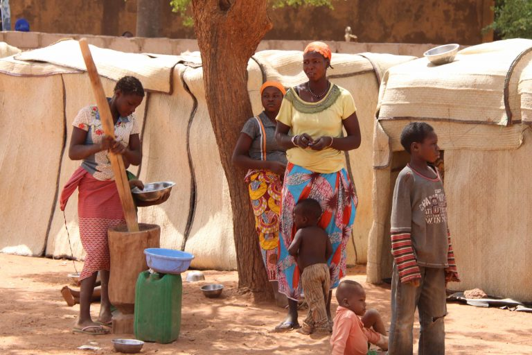 IDP families have fled the terror in the north of the country.