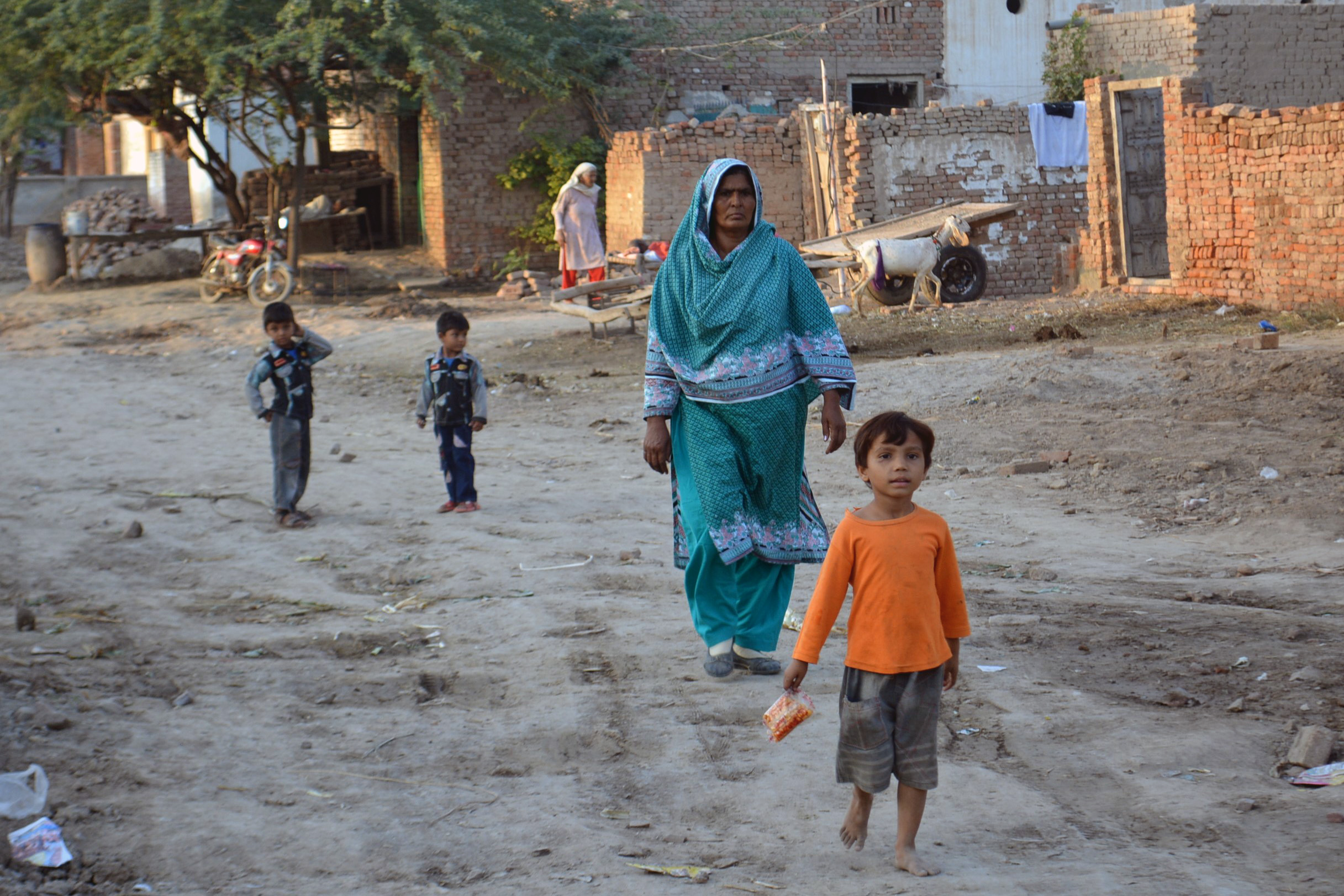 Residents in Khushpur, an almost entirely Christian village in Faisalabad Diocese.
