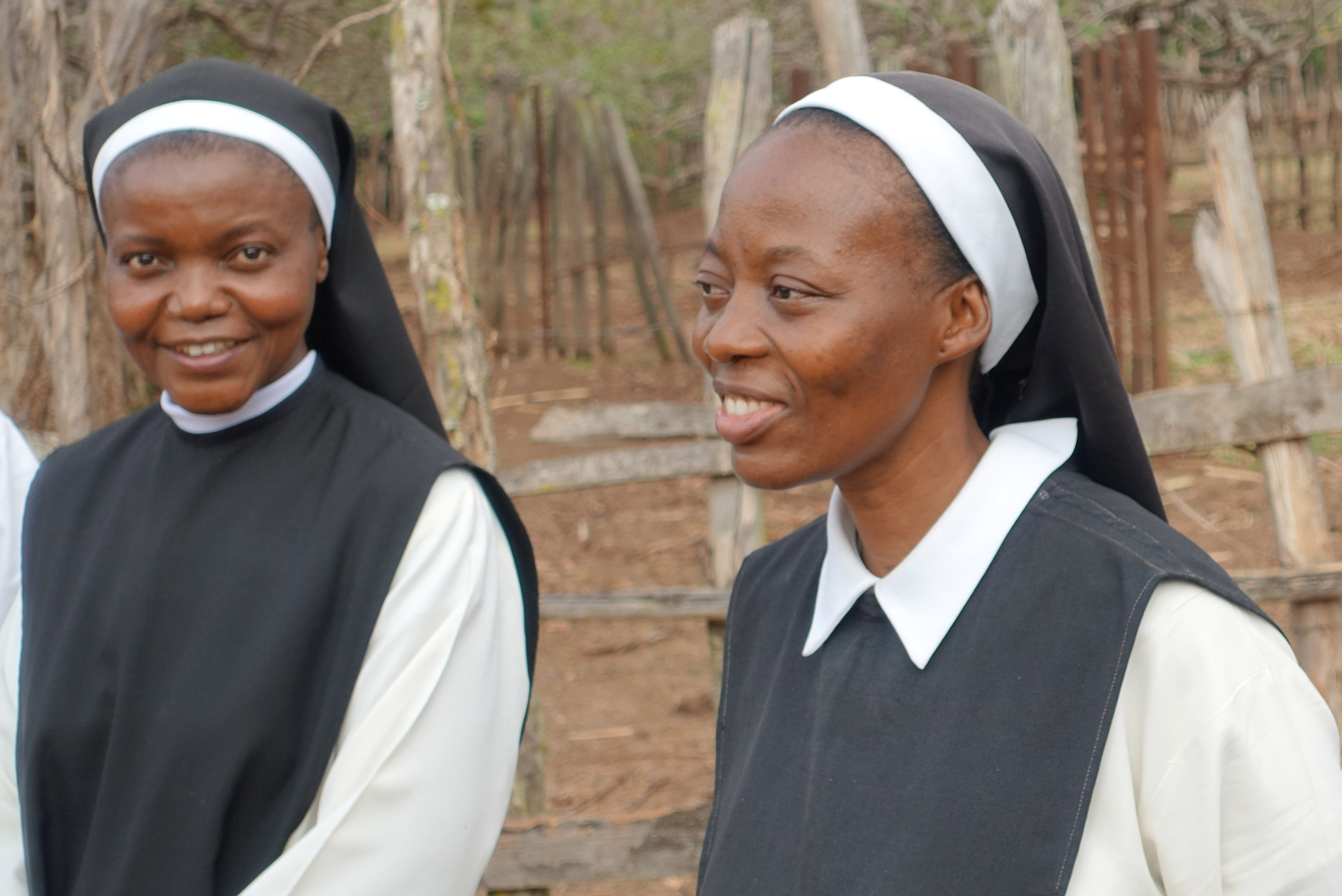 Sisters from the Trappist Monastery of Murhesa. The contemplative Sisters have been by threatened militia groups and one Sister was shot dead.