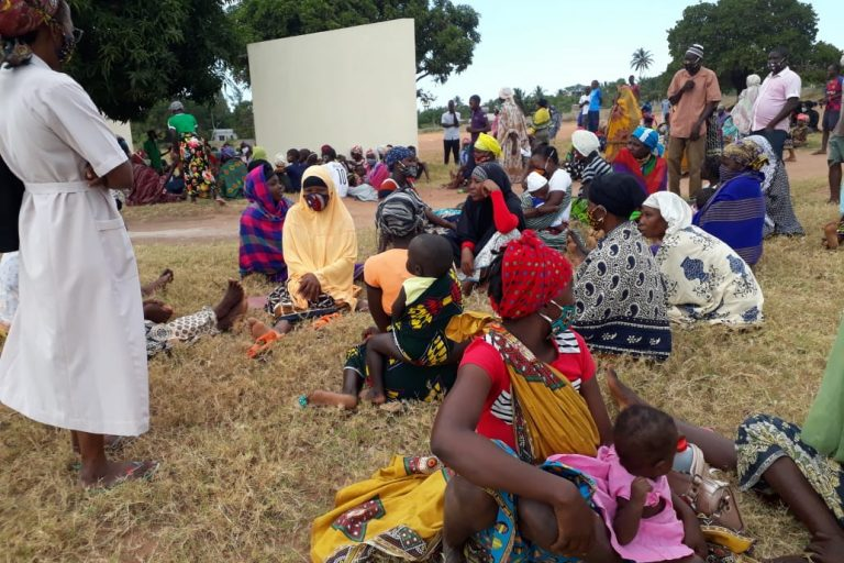 Families who fled Mocímboa da Praia, Cabo Delgado province, Mozambique after it was attacked by Al Sunnah wa Jama'ah on 26th June 2020.