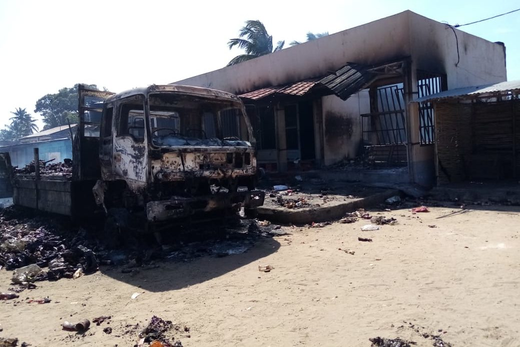 An earlier attack in Mocímboa da Praia (© Aid to the Church in Need)