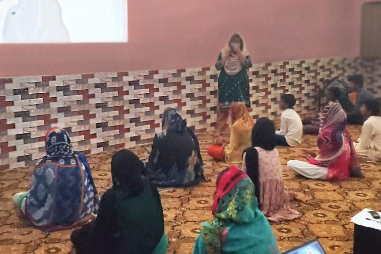 Members of the women's advancement programme attending a seminar.