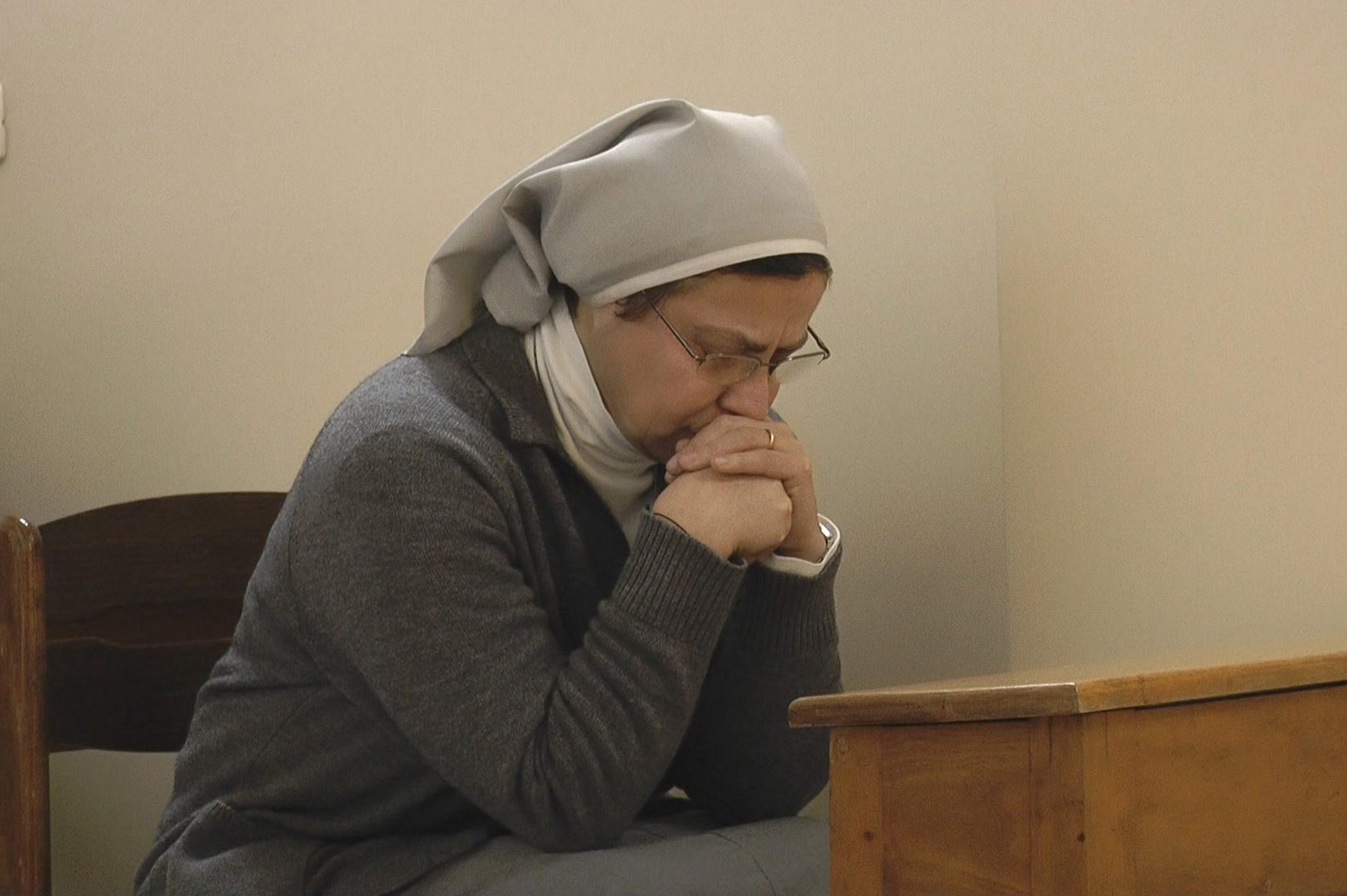 Sister Annie Demerjian praying, Syria
