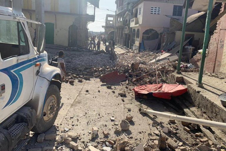 Damage caused by Saturday's earthquake (Credit: Baudelaire Martial CIFOR and © ACN)