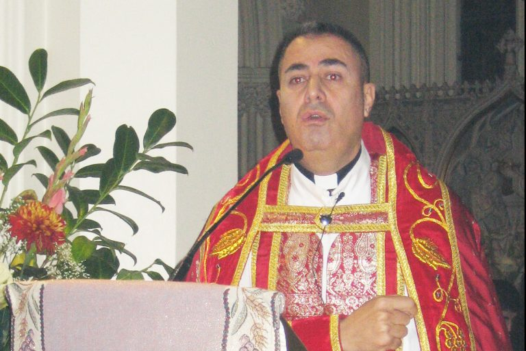 With picture of Syriac Catholic Archbishop Nathaniel Nizar Semaan (© Aid to the Church in Need)